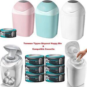 tommee tippee sangenic nappy sacks disposal bin tub compatible refill cassette ebay. Black Bedroom Furniture Sets. Home Design Ideas