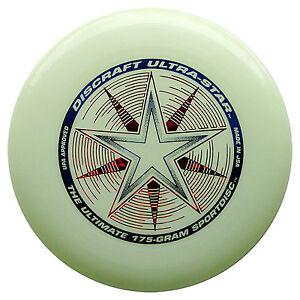 NEW Discraft ULTRA-STAR 175g Ultimate Frisbee Disc - GLOW