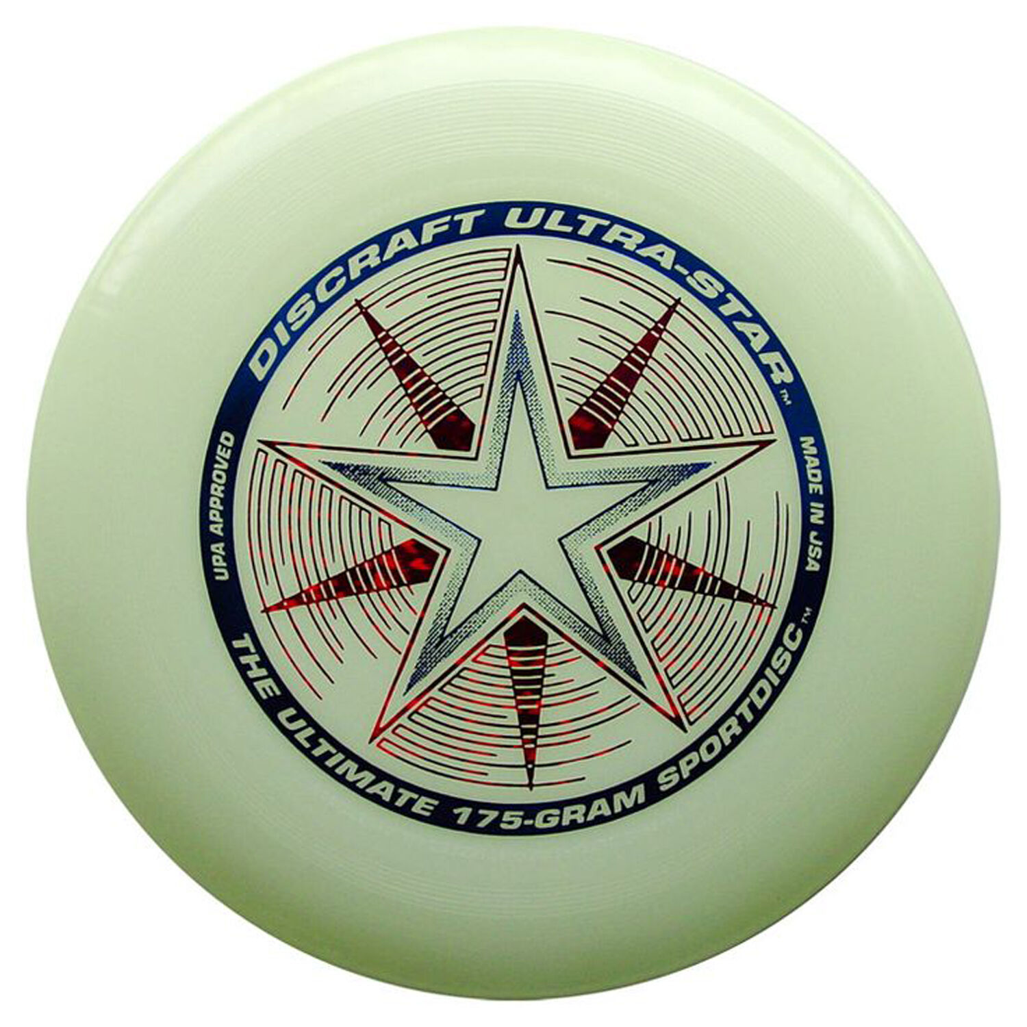 NEW Discraft ULTRA-STAR 175g Ultimate Frisbee Disc - GLOW