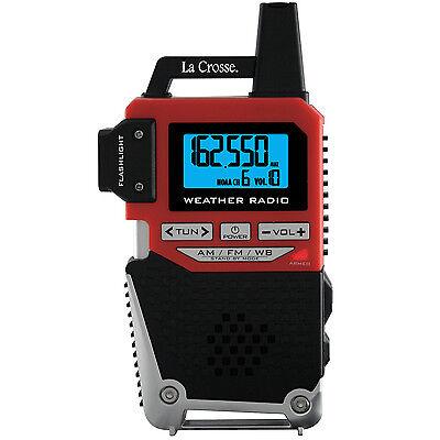810-1461 La Crosse NOAA Weather Radio & AM/FM Radio with LED Flashlight