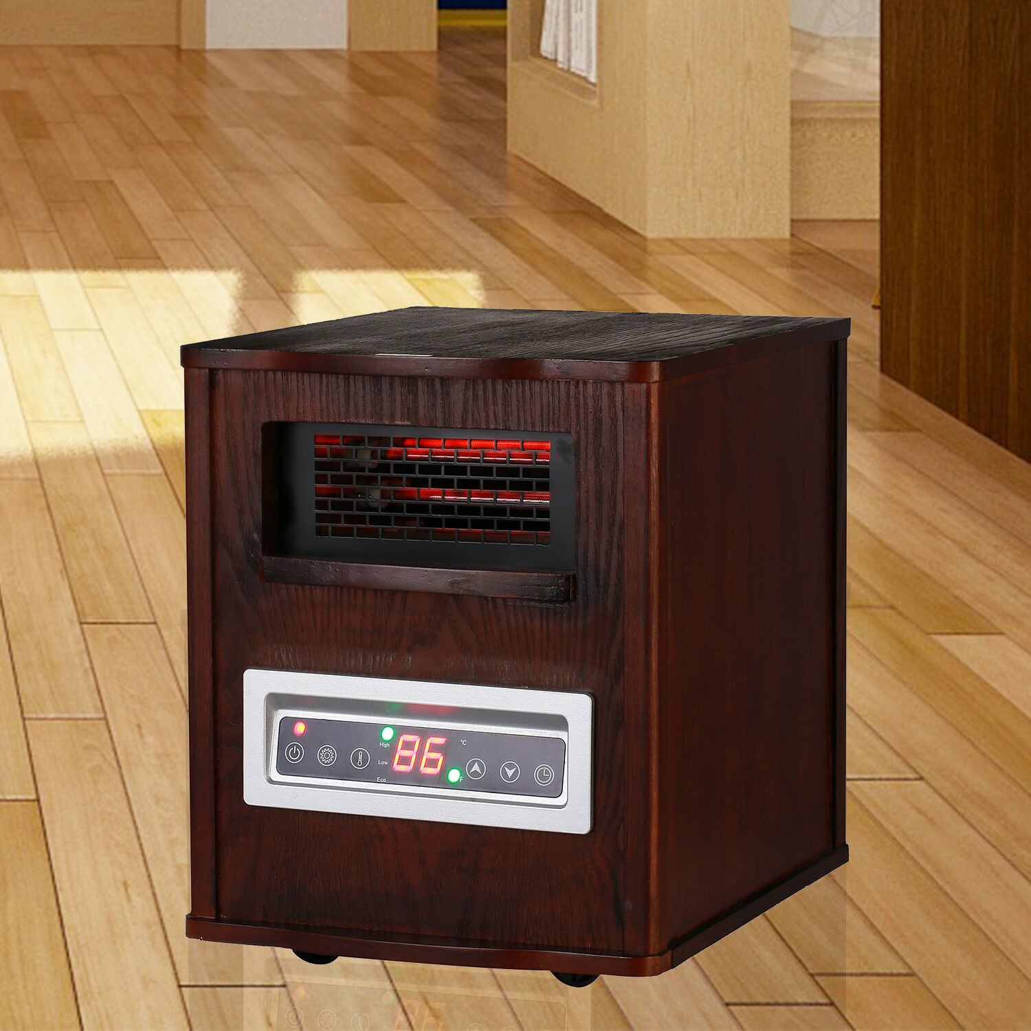 Electric Portable Infrared Quartz Space Heater with Remote C