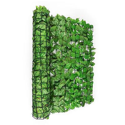 ARTIFICIAL WIND SCREEN PRIVACY LIGHT GREEN LEAF MESH BALCONY WALL TERRACE GARDEN