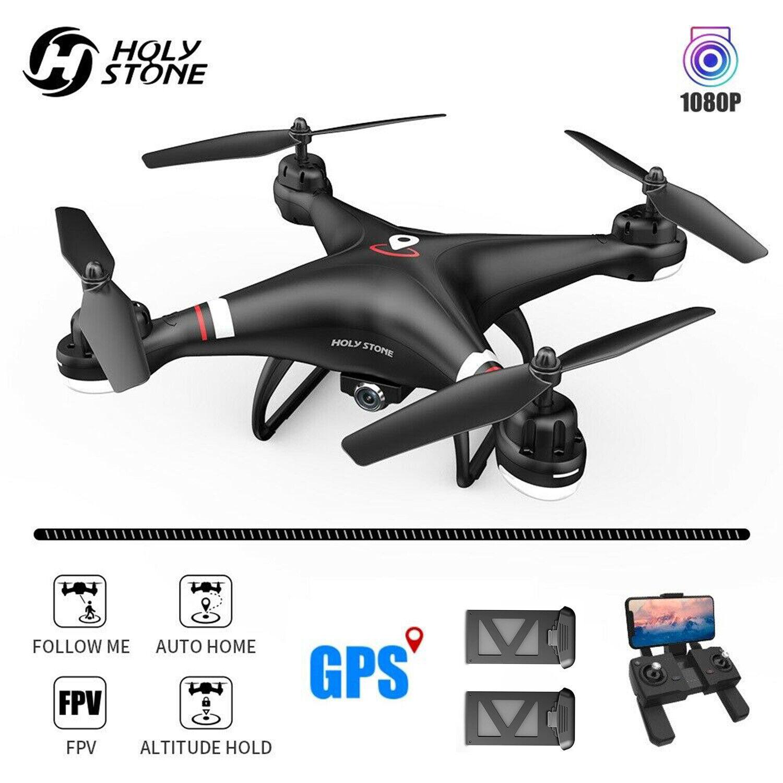 Holy Stone HS110G GPS Drohne mit Kamera 1080P HD 110° FPV RC Quadrocopter 2 Akku
