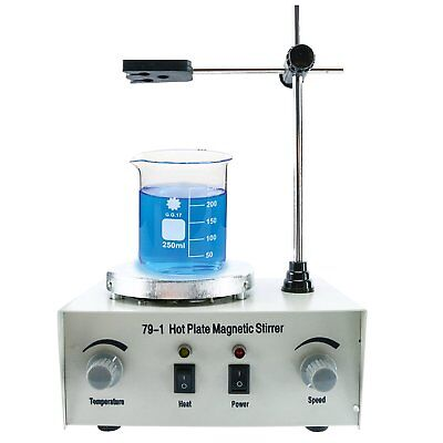 79-1 Magnetic Stirrer Hot Plate Mixer With Heating Plate Home Laboratory 110v