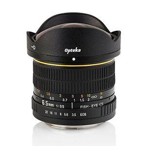 New Opteka 6.5mm f/3.5 HD Aspherical Fisheye Wide Angle Lens - Canon EOS Camera