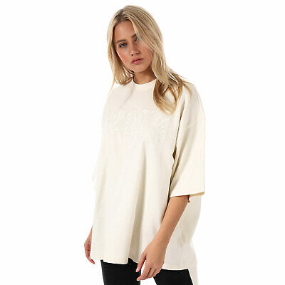 Womens Puma X Fenty Oversized Crew Neck T-Shirt In Vanilla Ice