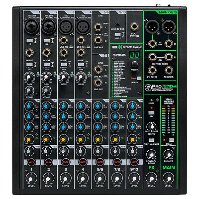 Mackie ProFX10v3 10 Channel Professional Effects Mixer with USB Mackie Dj Mixers