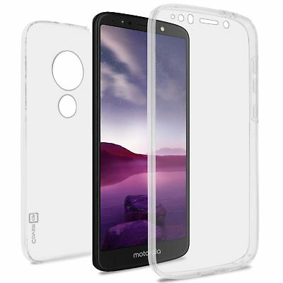 Clear Case For Motorola Moto E5 Play Full Body Front and Back Hybrid Phone Cover ()