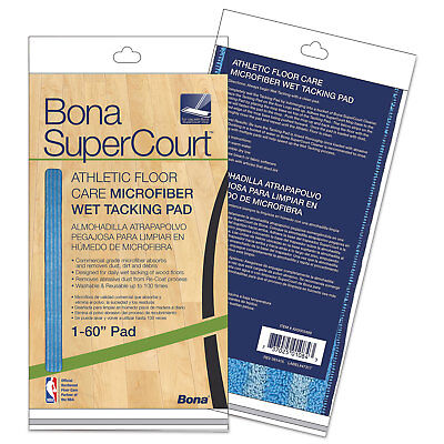 "Bona SuperCourt Athletic Floor Care Microfiber Wet Tacking Pad 60"" Light/Dark"