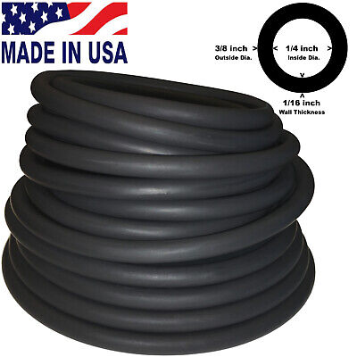 10 Feet Continuous 38in10mmod 14in6mmid Latex Rubber Tubing Black 804b