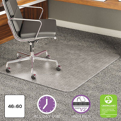 Deflecto Execumat Intense All Day Use Chair Mat For High Pile Carpet 46 X 60