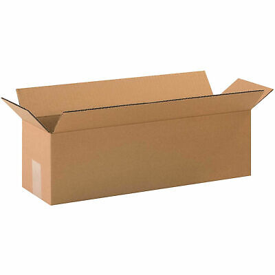 20 X 6 X 6 Long Cardboard Corrugated Boxes 65 Lbs Capacity 200ect-32 Lot