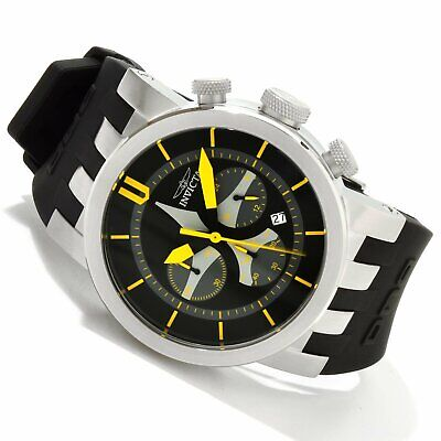 Invicta Men's 10398 DNA Aviation Chronograph Black Dial Black Silicone Watch