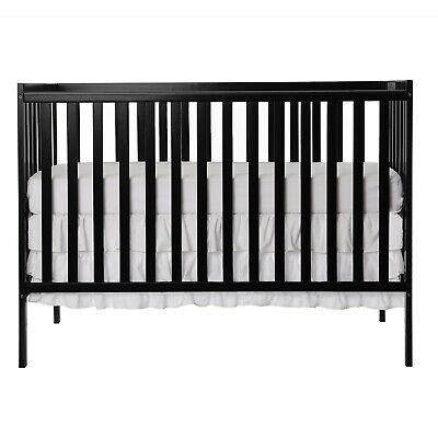 SynergyConvertible Crib, Black