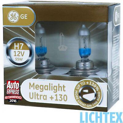 H7 GE Lighting Megalight Ultra +130% Halogen Scheinwerfer Lampe DUO - Box NEU 250 Night Vision