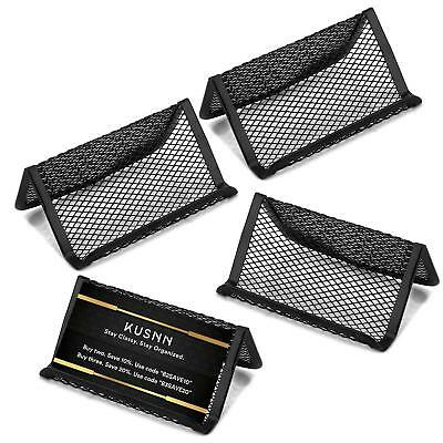 Mesh Metal Business Card Holder Stand Cell Phone Holder 4 Pack