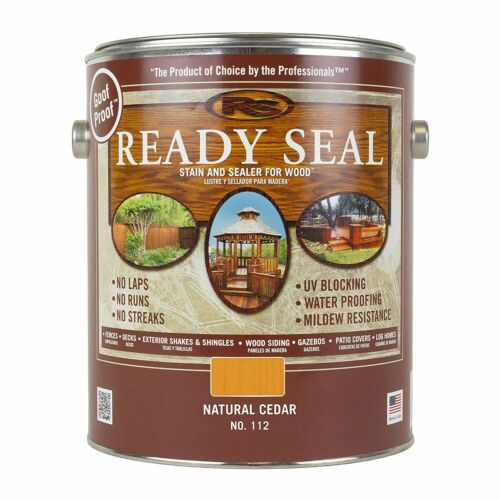Ready Seal, 112 Natural Cedar Semi-Transparent Exterior Stain and Sealer, 1 Gal