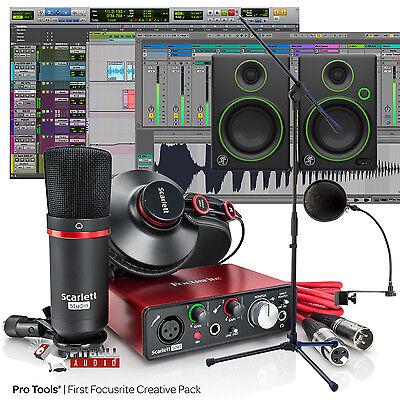 Focusrite Scarlett Solo Studio 2Nd Gen Songwriter Home Studio Recording Bundle