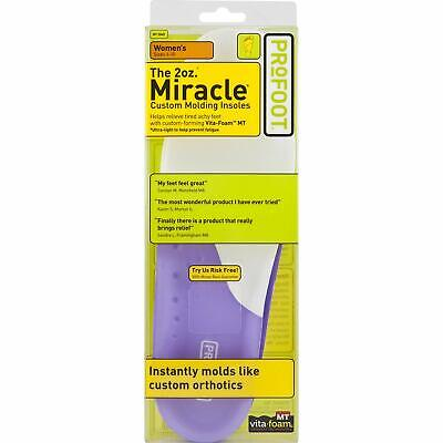 2oz Miracle Custom Molding Insoles for Women 6-10 Size for Tired Achy Feet 3Pack 2 Oz Miracle Custom Molding