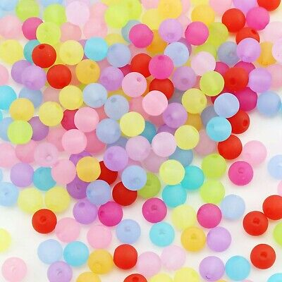 Wholesale Beading Supplies (50 Frosted Glass Beads Solid 6mm BULK Wholesale Jewelry Supplies Opaque)