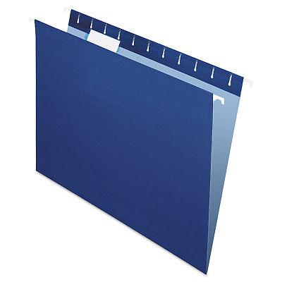Pendaflex Essentials Colored Hanging Folders 1/5 Tab Letter Navy 25/Box 81615