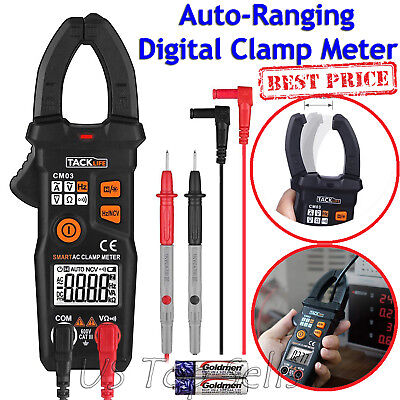 Digital Clamp Meter Tester Acdc Volt Amp Multimeter Auto Ranging Current 6000