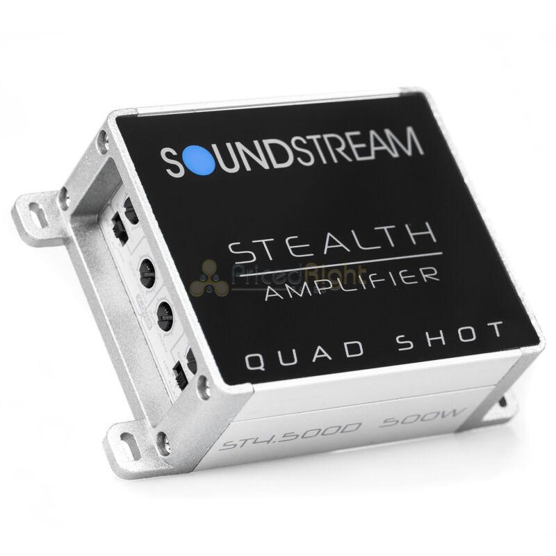Soundstream 4 Channel Mini Amplifier 500W Max Power Stealth Shot Series ST4.500D