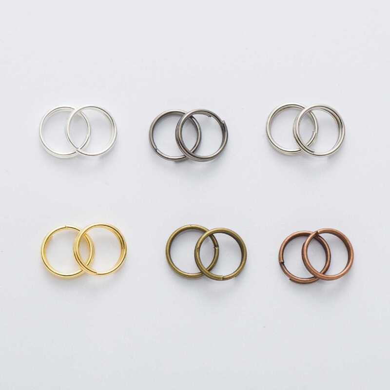 6 Colors Open Jump Rings Double Loops Jewelry Making Connectors Findings 4-12mm
