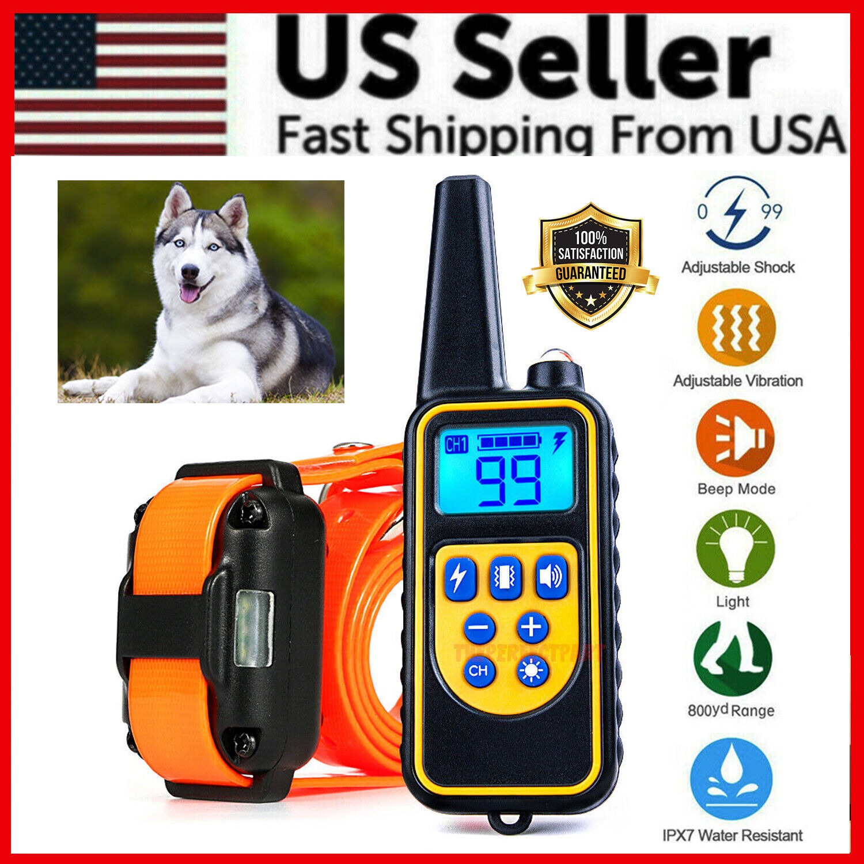 2600 FT Remote Dog Shock Training Collar ...