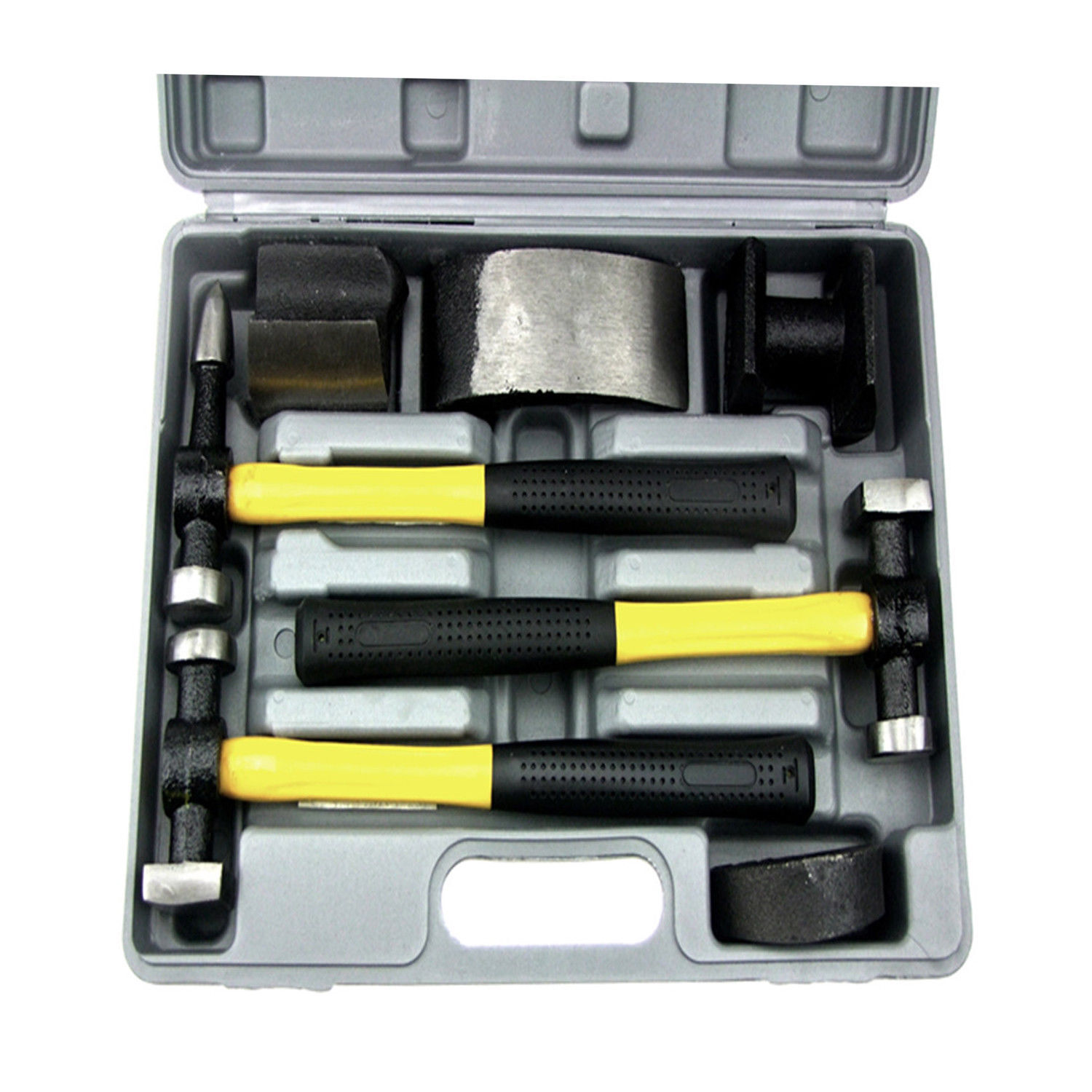 Owner HFS(R) 7 PC Auto Body Fender Repair Tool Hammer & Dolly Set