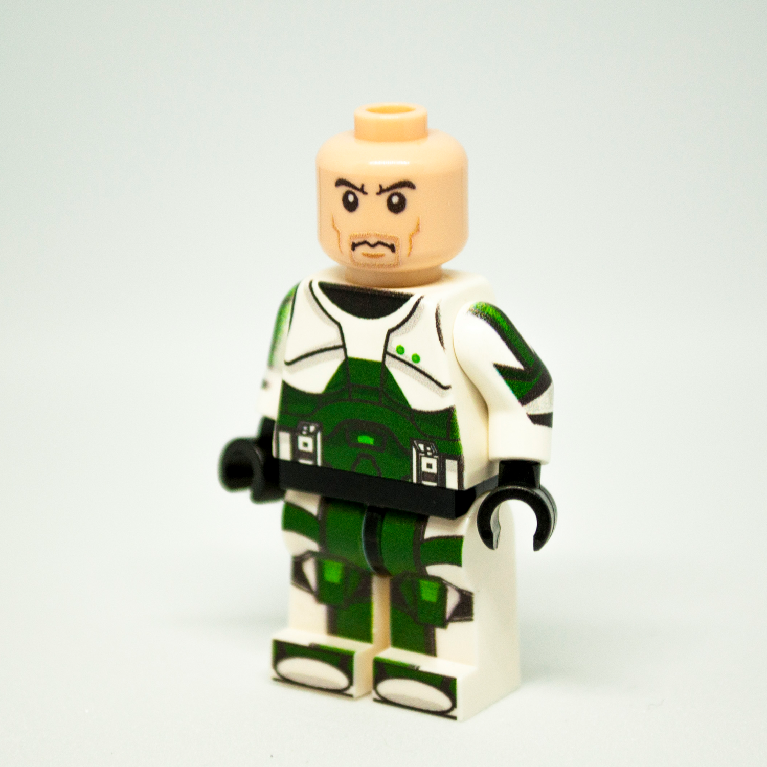 Custom LEGO Star Wars Minifigure Clone Commando Sev Without Helmet