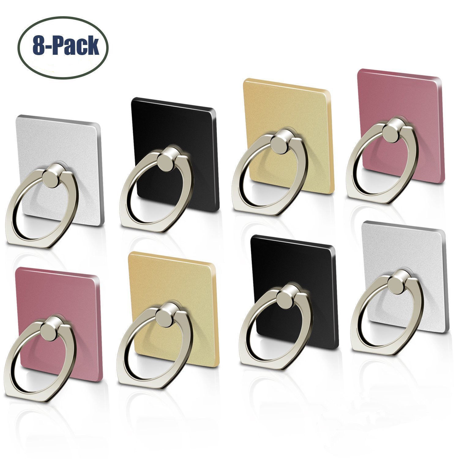 8-Pack Universal 360 Rotating Finger Ring Stand Holder For C
