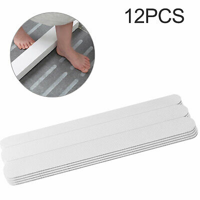 12Pcs Safety Treads Non-Slip Applique Stickers Strips Bathtub Shower Stair Mat