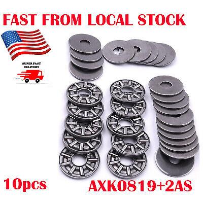 10 X Thrust Needle Roller Bearings 1pc Cage Needle 2pcs Washers 8 X19 X2mm