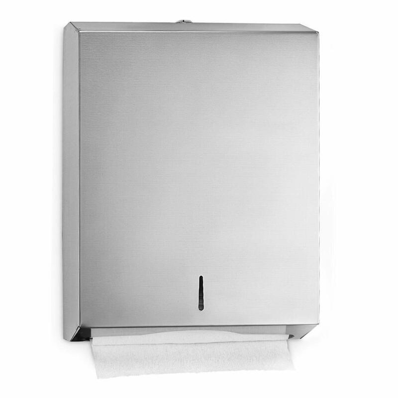 Alpine Stainless Steel Wall Mount C-Fold Multi fold Paper Holder Towel Dispenser
