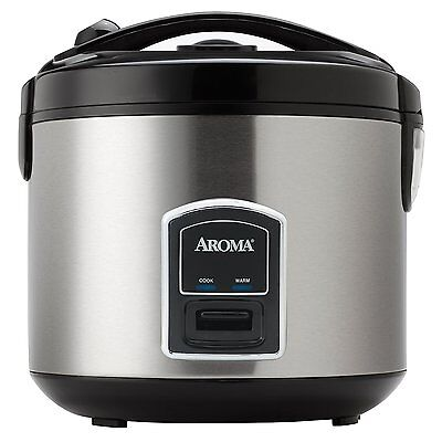 Hint 20 Cup Electric Rice Cooker & Food Steamer, Stainless Steel ARC-900SB New