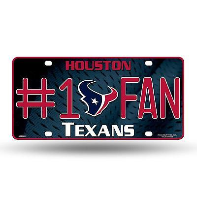 1 Fan Sign (Houston Texans #1 Fan Metal License Plate Tag Wall Sign FAST USA SHIPPING )