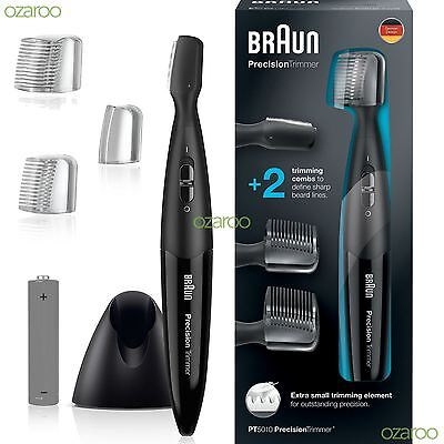 Braun PT5010 Precision Facial Stubble Beard Trimmer 5/8mm Styler Battery Powered
