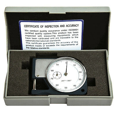 Hfsr 0.5 Thickness Gage Dial Micrometer Caliper Scope Sheet Paper Mic Guage