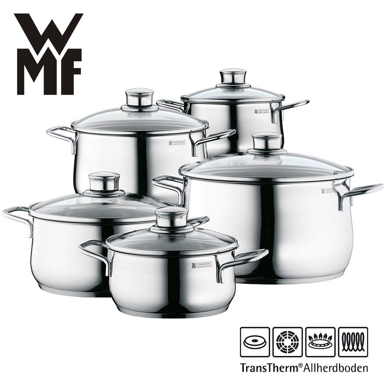 WMF Diadem Plus Topfset 5-tlg Edelstahl alle Herdarten TransTherm-Allherdboden