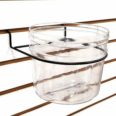 Pegboard & Slatwall Clear Bucket Display Bin, 6