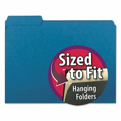 Smead Interior File Folders 13 Cut Top Tab Letter Sky Blue 100box 10287