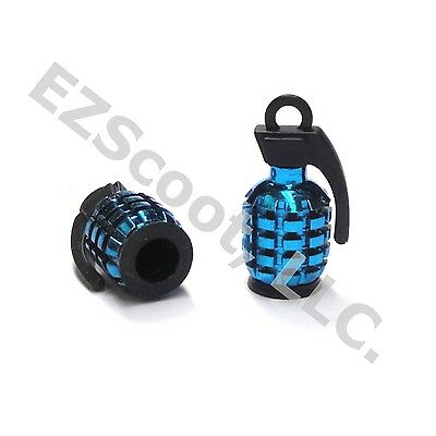 SET OF 2 TIRE VALVE CAP GRENADE GY6 SCOOTER MOPED MOTORCYCLE VENTO PEACE JMSTAR