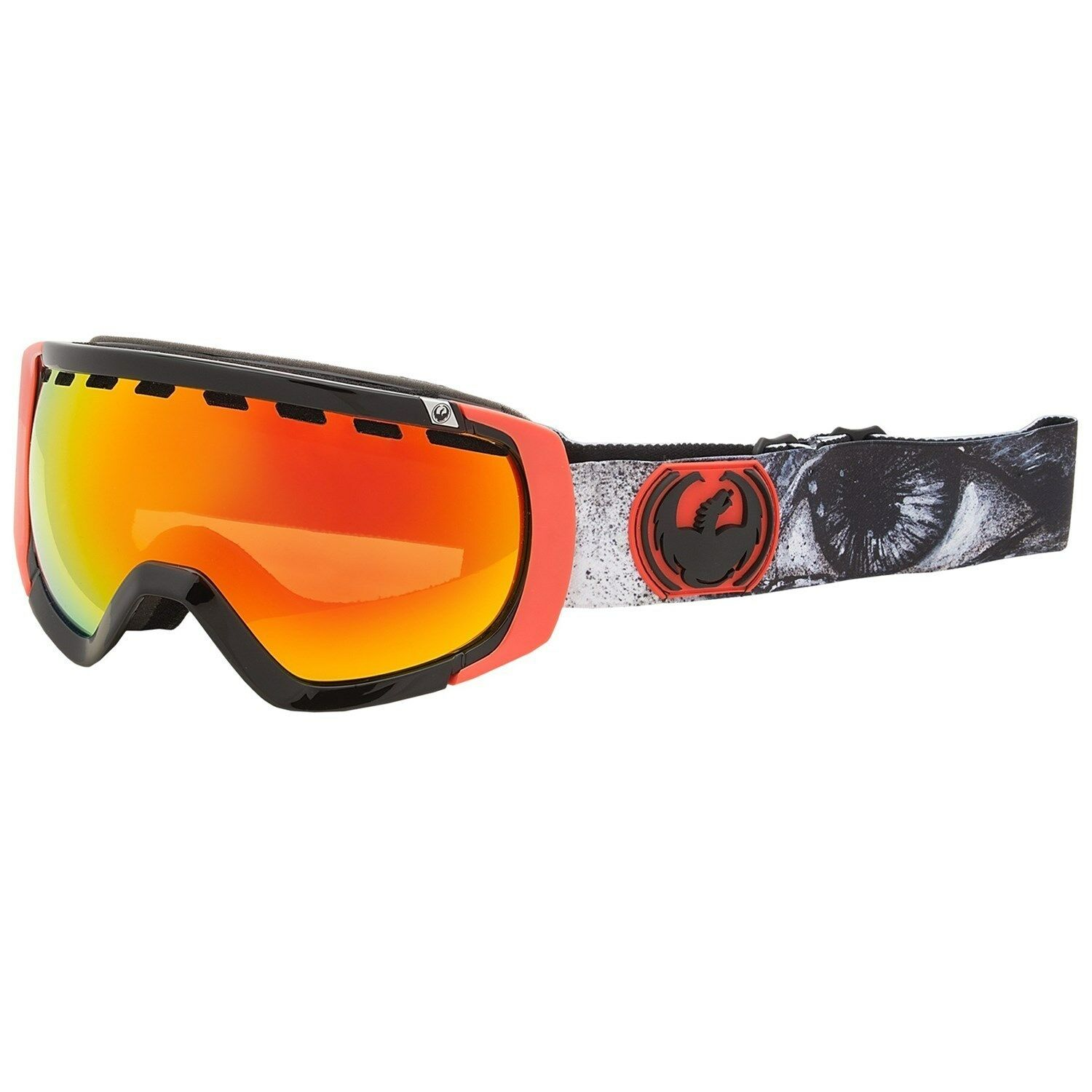 Dragon Rogue Goggles Winter Ski Snow Goggles Ionized Lens Monster Dap/Red Ionized