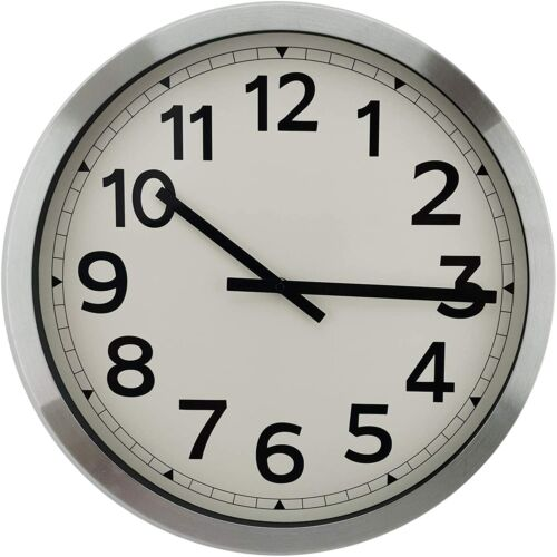 18 Inch Silent Non-Ticking Quartz Wall Clock Battery Operated