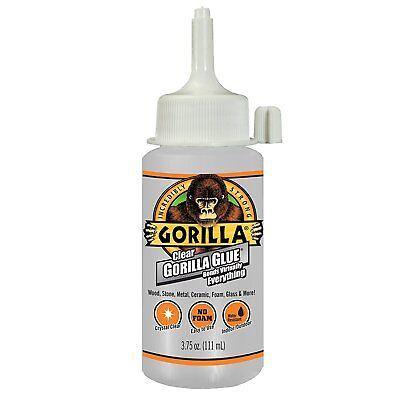 Gorilla Glue 4537503 Crystal Clear Glue With Non-foaming Formula 3.75 Oz