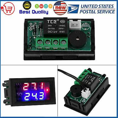 Dc 12v 20a Lcd Digital Thermostat Temperature Controller Meter Regulator Usa