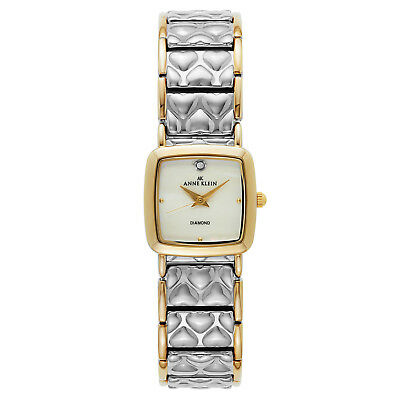 NEW Anne Klein Pretty Women 7583MPTT St. Steel Bracelet Classy MOP Dress Watch
