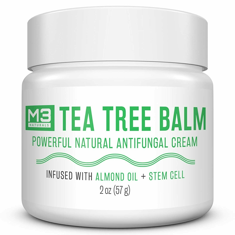 M3 Naturals Tea Tree Balm-Powerful Antifungal Cream w Stem C