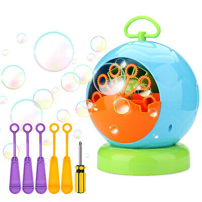 AGPtEK Portable Automatic Bubble Machine Toy for Indoor & Outdoor Kids Party DJ](Bubble Machine For Parties)